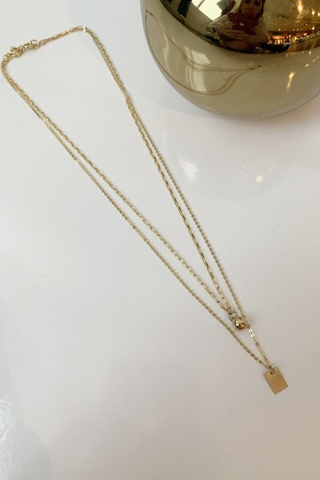 Christina Nicole Jewelry & Home Ball and Chain Layering Necklace - 14K Gold Fill