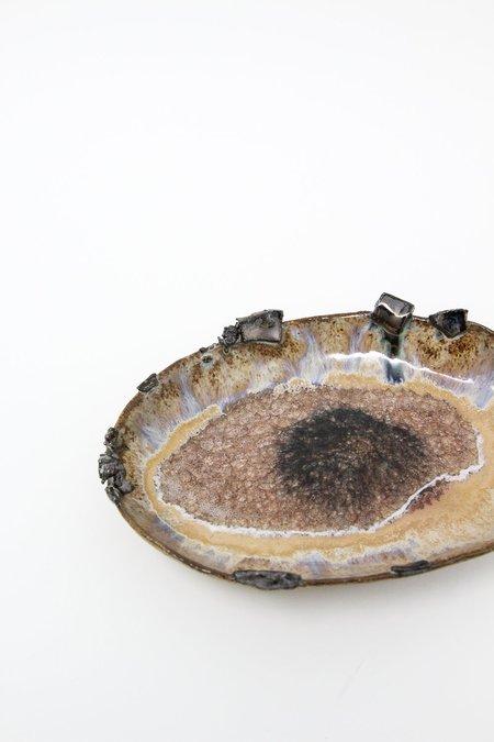 Minh Singer Small Oval Iceland Platter - Blue Lagoon