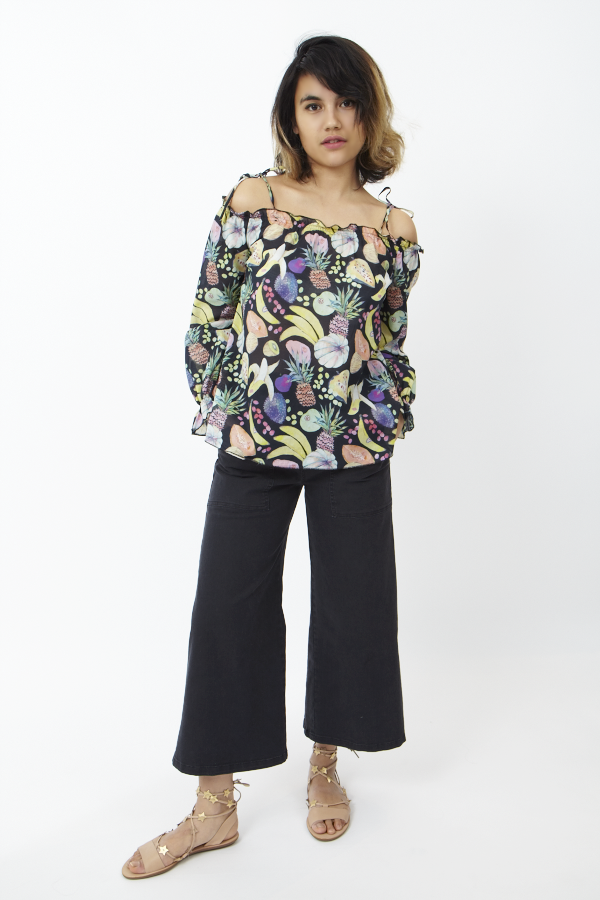 Rachel Antonoff Rico Off Shoulder Tunic