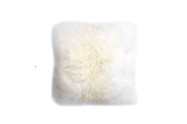 "Primecut Ivory Sheepskin Pillow (17"" x 17"")"