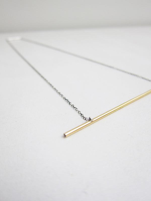Natasha Wheat Line Series #1 Necklace, Champagne Diamonds