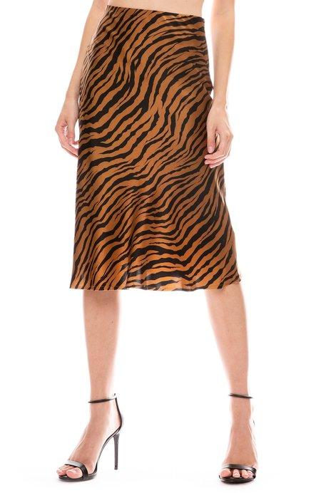 Nili Lotan Lane Skirt - SMALL BRONZE TIGER PRINT