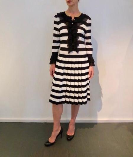 Gucci Dress - Black/White Stripe