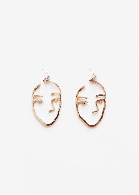open house projects Sister Earrings - Bronze