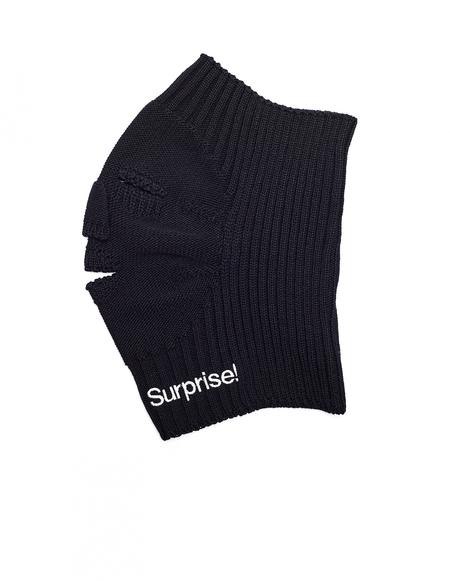 Doublet Black Wool Balaclava Surprise! Snood - black