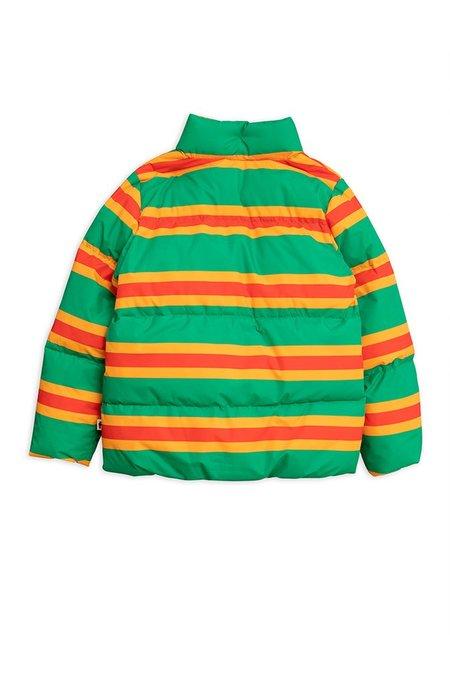kids Mini Rodini STRIPE PUFFER JACKET - green
