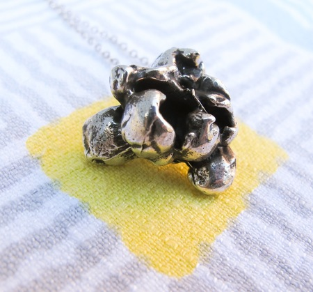 Gold Teeth Brooklyn Popcorn Necklace - Sterling Silver