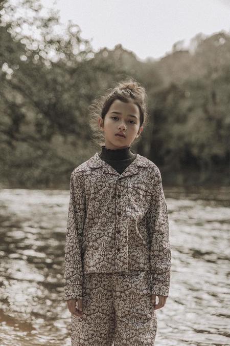 Kids The New Society Enzo Pajama Shirt - Mortimer Plum