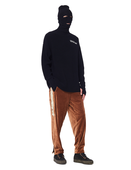 unisex Doublet Embroidered Velour Sweatpants - Brown