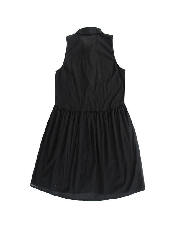 ALI GOLDEN BUTTON-UP DRESS - BLACK