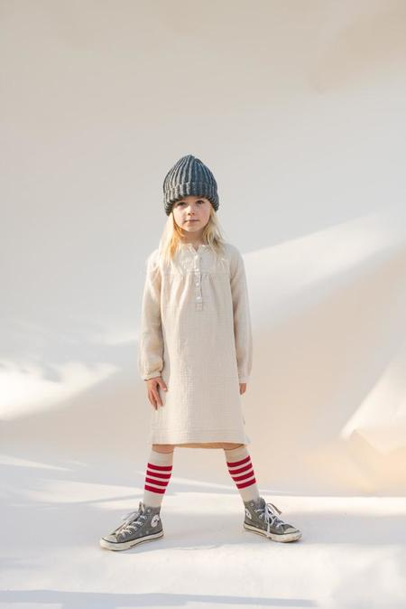 Kids Long Live the Queen Crinkle Dress - Natural