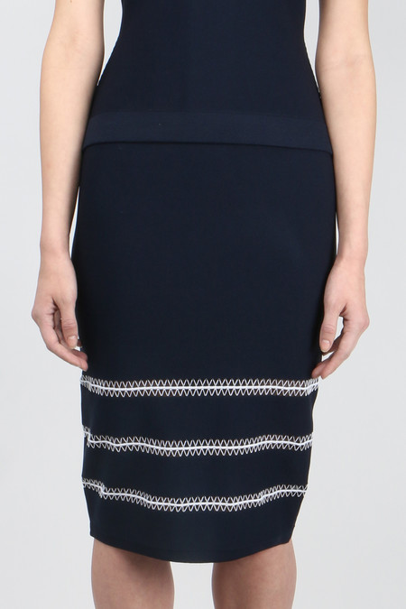 Jonathan Simkhai Tower Trim Pencil Skirt