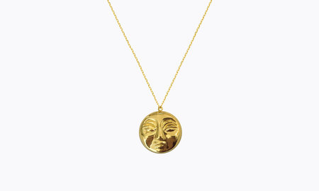 Eyland Mimas moon necklace - gold