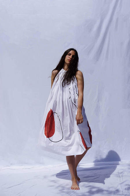 Textile Haus x Nin Studio Halter Dress