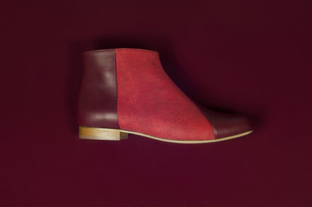 INLU Low-heel boots - Bordeaux/Crimson Red