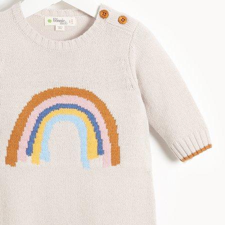 Kids The Bonnie Mob Hello Rainbow Intarsia Playsuit - Sand