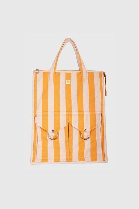 L.F.Markey Striped Beach Bag - Sunflower Stripe