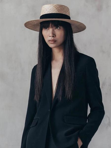Janessa Leone Jodi Boater Hat - Natural