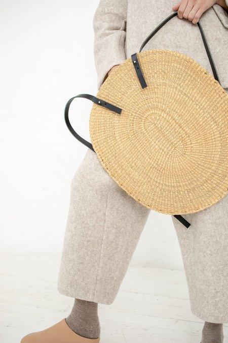 Inès Bressand Akamae Basket No. 9 Oval Elephant Grass Backpack
