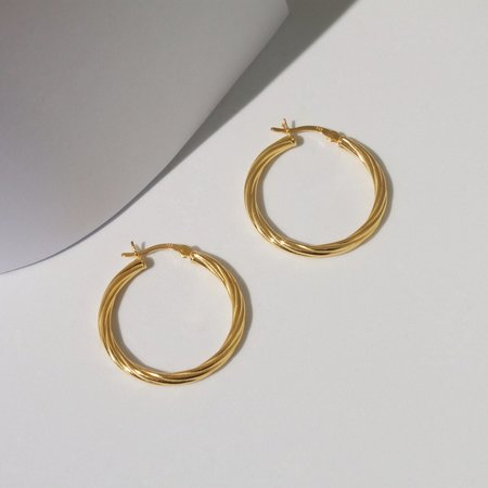 Eleventh House Jewellery Flaxen Hoops - 18k Yellow Gold