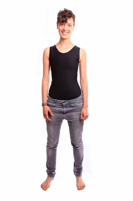 Danaë chest binder extra strong singlet - Black