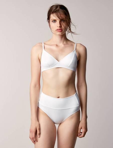 Fortnight Swim Tri bralette - white