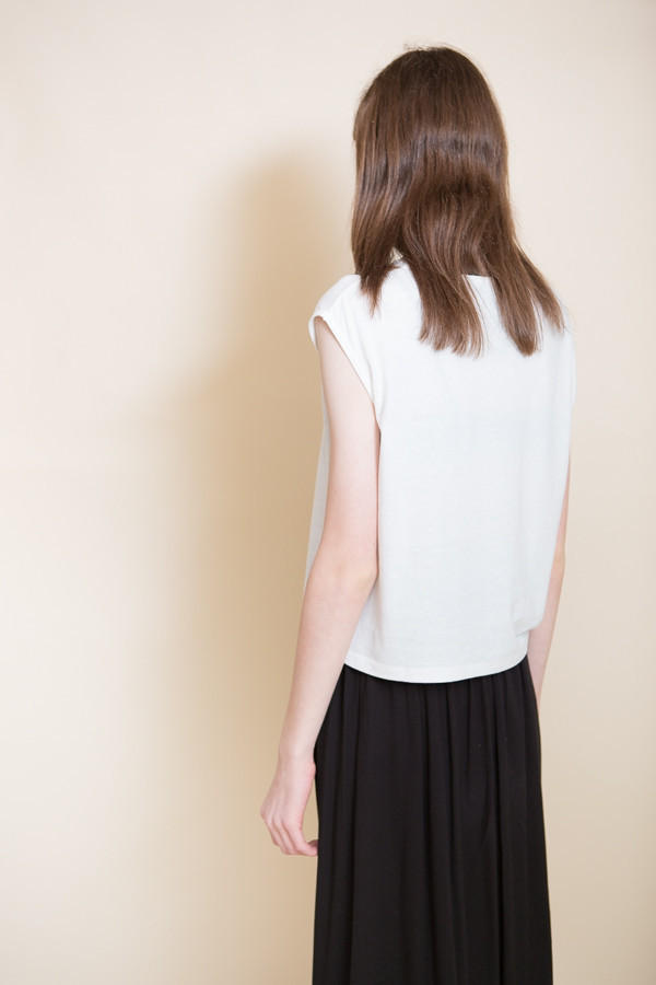 Can Pep Rey Cropped Tank Top / Whisper White