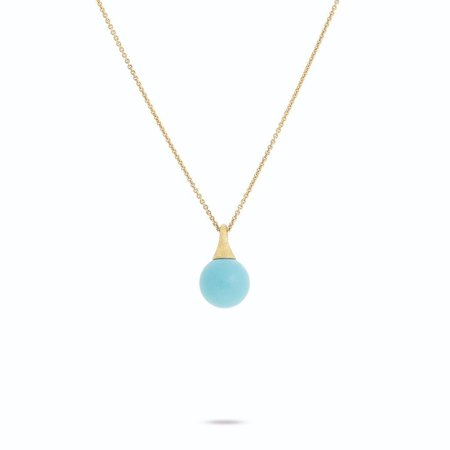 Marco Bicego Africa Boules 18K Yellow Gold and Turquoise Pendant