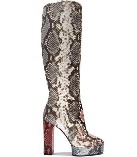 Casadei Sahara Snake Print Knee High Platform Boot