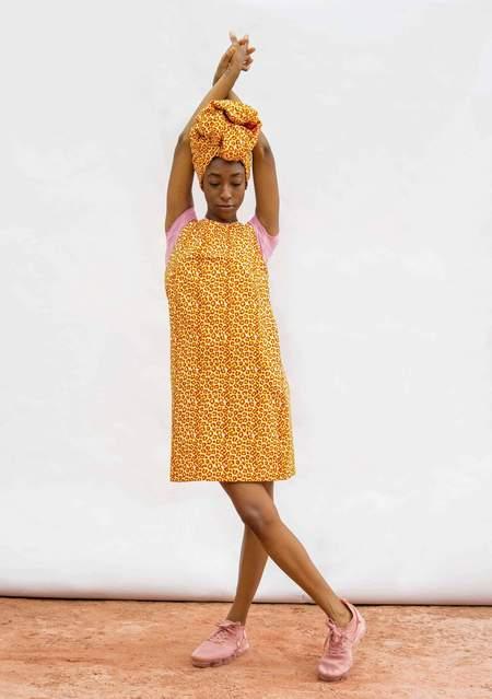 Yevu V Back Shift Dress - Poppy
