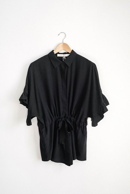 Bishop & Young Ruffle Sleeve Blouse - Black