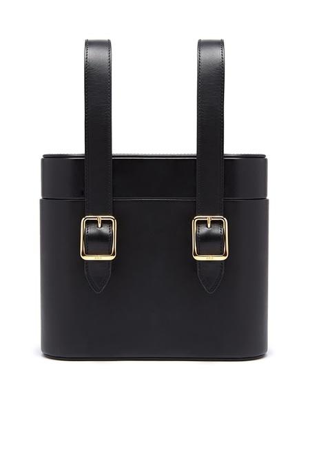 Officina del Poggio Picnic Safari Leather Bag - Nero