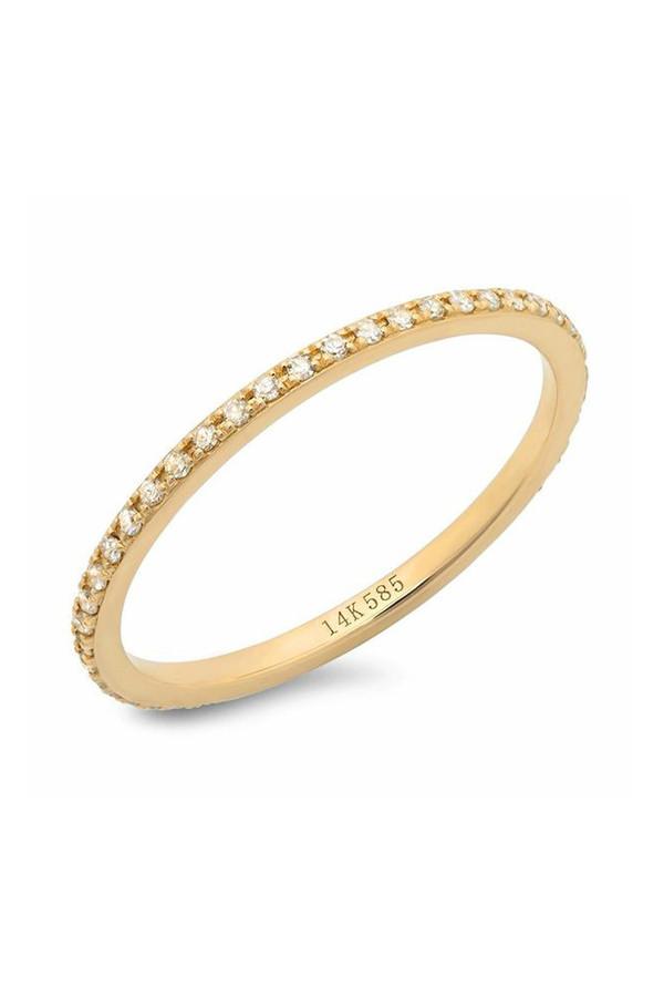 Sachi Jewelry Classic Micro Eternity Band 14k Yellow Gold