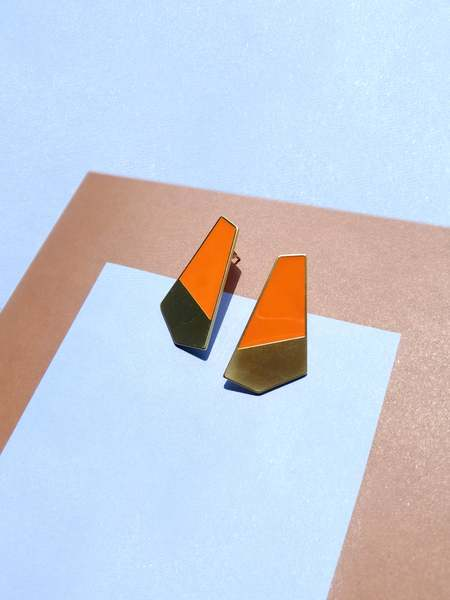Matter Matters Gallery Turi Stainless Steel/Silver Earrings