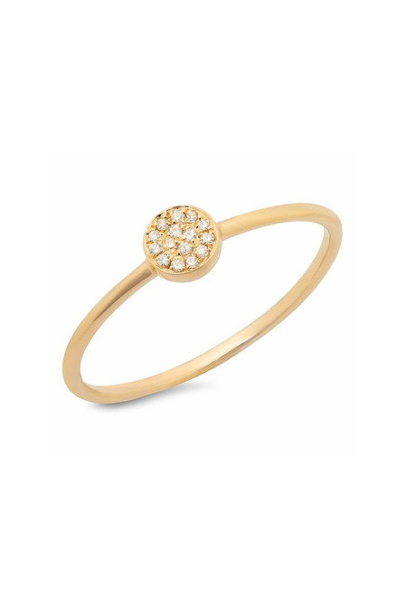 Sachi Jewelry Disc Stacking Ring Yellow Gold