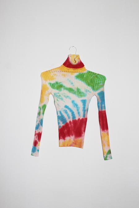 giu giu Sunlight Nonna Turtleneck in Rainbow Tie Dye