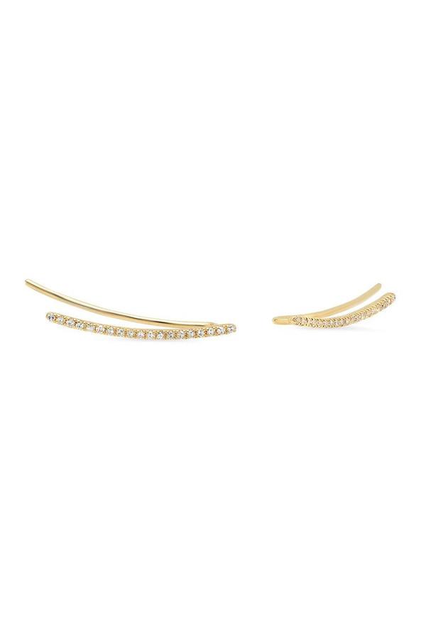 Sachi Jewelry Micro Curve Crawlers 14k Yellow Gold