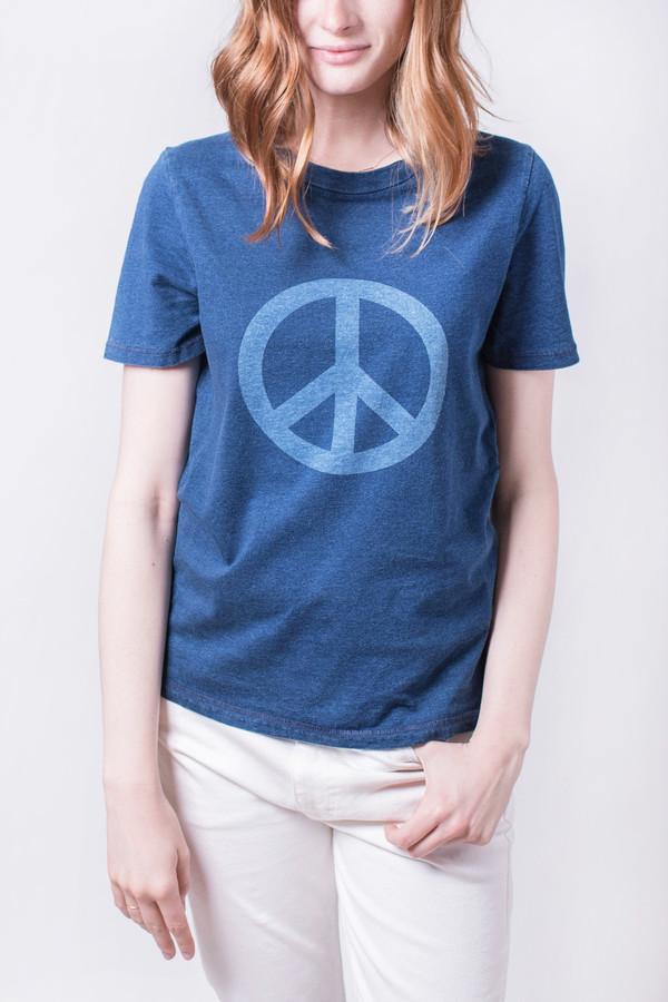 YMC Peace Indigo Tee