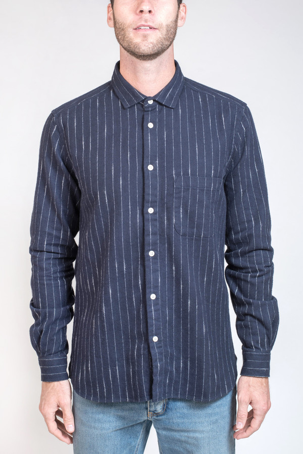 Men's YMC Pinstripe Button Down Shirt