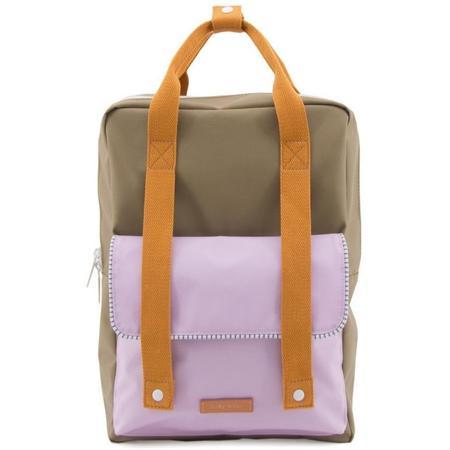 kids sticky lemon deluxe envelope backpack - olive/lilac/orange