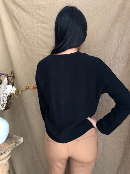 EVE GRAVEL CODA TOP - BLACK