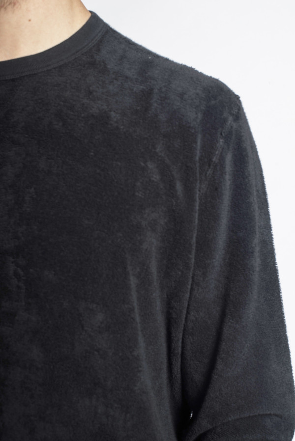 Reversible Sweat Overdyed Black Terry
