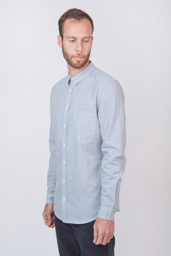 Men's Chinti and Parker Slim Fit Shirt Blue Stripe