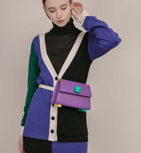 Matter Matters Mini Trapezoid Belt Bag - Purple