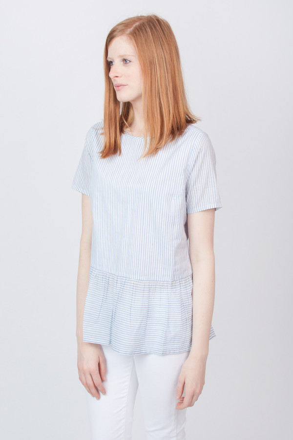 Chinti and Parker Voile Peplum Top