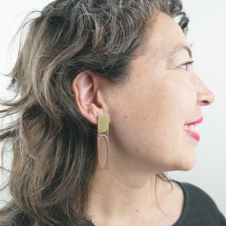 Natalie Joy Jacqueline Earrings - Rust