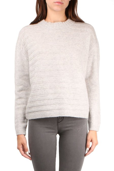 Allude Textured Sweater - Light Grey Melange