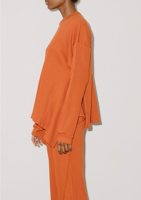 Baserange SHAW LONG SLEEVE - Opia Orange