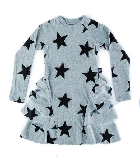 Kids Kodomo Nununu Star Layered Dress - Heather Grey