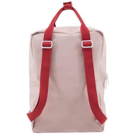 Kids sticky lemon large deluxe envelope backpack - pink/blue/red